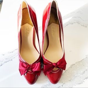 Cole Haan Nike Air Red Patent  Leather Heels